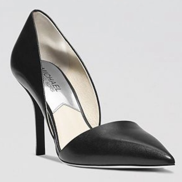 Michael Kors Julieta D'Orsay Leather Pumps